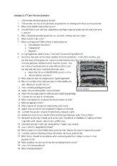 Geology 11 2nd Exam Review Questions