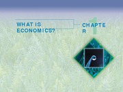 Chapter 1 - What is Economics