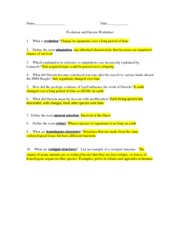 evolution and darwin worksheet with answers 6 what did darwin mean by descent with modification each living species has descended with changes from - Evolution Worksheet