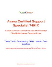 Avaya 7491X updated exam material.pdf