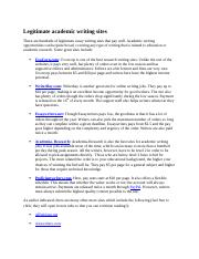 Legitimate academic writing sites.docx