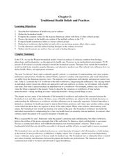 Chap 2 Traditional Health Beliefs and Practices BB