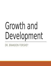 Lecture 6 - Growth and Development