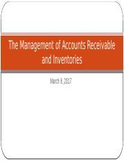 Ch18 The management of accounts receivable and investories (1)