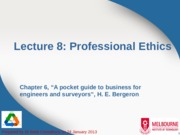 Lecture 8 - Professional Ethics