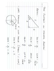 Trig Ratios in Standard Position Notes