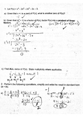 Algebra 2 Polynomial Functions Test