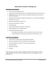 Handout 06 - Properties of Refrigerants
