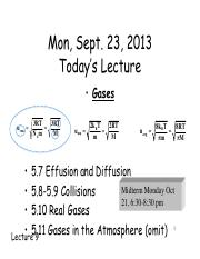 Lecture 9 - Sept 23