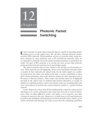 Optical Networks - _Chapter 12 Photonic Packet Switching_132