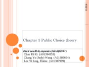 Chapter 3 Public Choice theory
