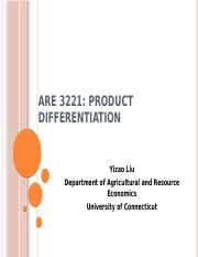 ARE Lec XII [Product Differentiation].pptx