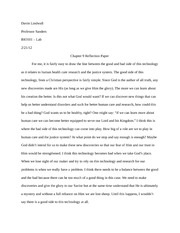 Chapter 9 Reflection Paper