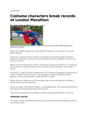 Costume characters break records at London Marathon_778705779