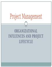 02-PMC-Organizational Influences and Project Lifecycle