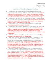 Chelsey_Colston_English 4_1.04_Royal Coat of Arms Investigation Questions
