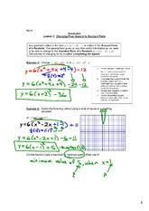 Quadratics - Changing from General to Standard Form of a Quadratic Function