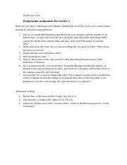 01. Problem One. Preparation assignment for lecture 1