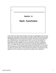 CSCI 650 - Module11-Hash Functions - Lecture Material