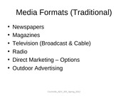 Media Formats (Traditional)_for_students_Spring_2012