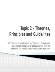 2-Theories, Principles and Guidelines