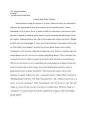 sample rough draft for analytical paper natural disasters 6 pages sample final draft for analytical paper