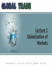 Summer '15_Global Trade_Lecture 1