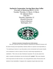 Startbucks Corporation