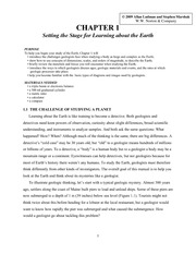 Chapter 1 Introduction to studying the Earth