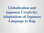 GLobal Pop Japanese rap presentation
