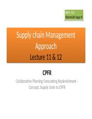 ABM 532, Supply chain Management Approach, Lecture 11 & 12