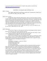 Louisiana Air Control Law, 30 §2051-2066 (2012).docx