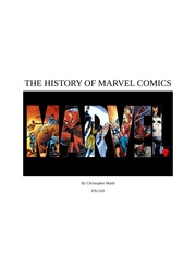 THE HISTORY OF MARVEL COMICS