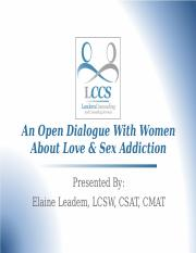 Love & Sex Addiction.ppt