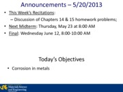 Lecture 20A - 5-20-2013 Corrosion of Metals