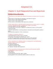 Assignment (1) chapter 6