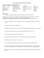 Study Guide for AnimalCircGasExch_2016AEK.doc
