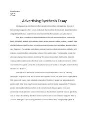 Advertising Synthesis Essay