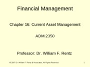 Chapter 16 Financial Management