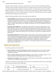 Time Management – WSRO-1001G-5,Student Readiness .