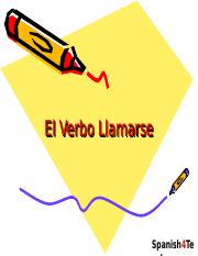 the verb llamar(se).ppt