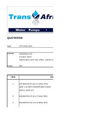 Agrorain_Quot for the supply of pumps (rvsd)
