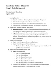 Chapter 14 Knowledge Outline