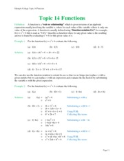 Topic 14 Functions