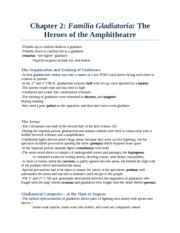 CS 2300B - Study Notes by Theme -  (11) The heroes of the ampitheatre