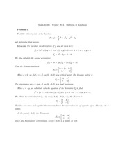 MATH 31BH Winter 2014 Midterm 2 Solutions