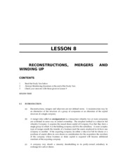 LAWII.8A RECONSTRUCTIONS, MERGERS AND WINDING UP