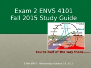 Study Guide Exam #2 Fall 2015