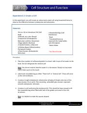 Cell Structure & Function Lab Sheet (Turn this in the drop box) (Autosaved)
