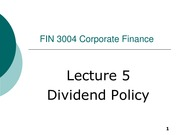 FIN3004_2015_lecture05(Dividend policy)